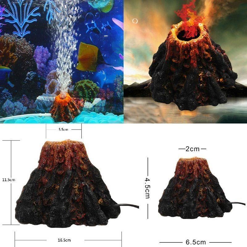 100% Waar Hot Onderwater Volcano Aquarium Ornament Fish Tank Air Stone Tropische Vis Decoratie Fijn Verwerkt