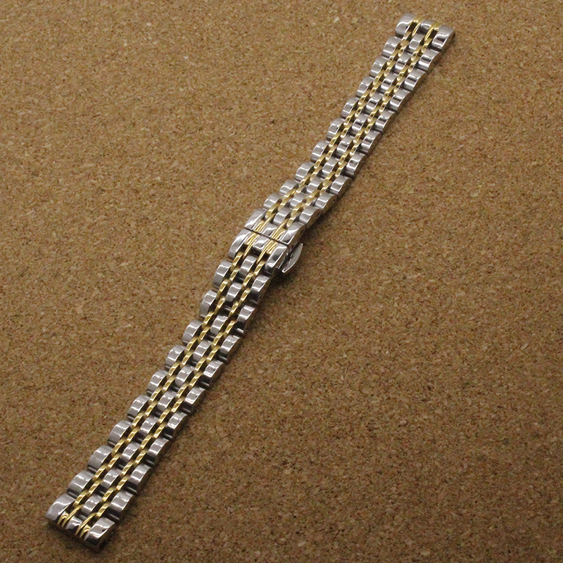 Stainless steel Watchband straps Metal Bracelet 14mm 16mm 18mm 20mm silver with gold color fashion brand
