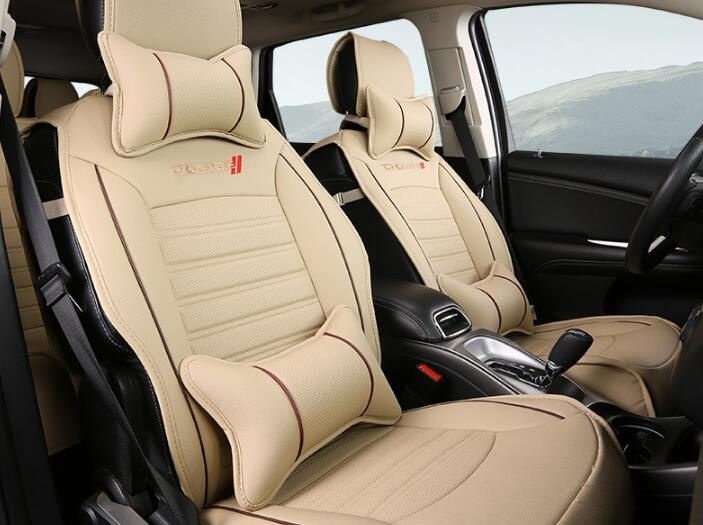 Beige Car Seat Covers Set Interior Covers Car Styling Cushion Protector Car Accessories 7 Seats For Dodge Journey 2013-2015 high quality car seat covers for lifan x60 x50 320 330 520 620 630 720 black red beige gray purple car accessories auto styling