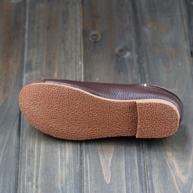 a4c3a9c42d54e Aliexpress.com : Buy Hand made Genuine Leather Flat Shoes Woman Slip on Loafers  Ladies Flat Shoes Mori Girl Style Brand Designer (z105) from Reliable shoes  ...