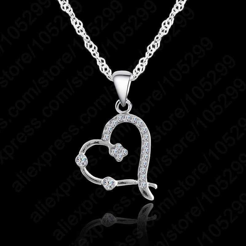 Austrian Crystal Necklace For Women Jewelry 925 Sterling Silver  Necklace Fashion Necklaces Pendants Chain Necklace