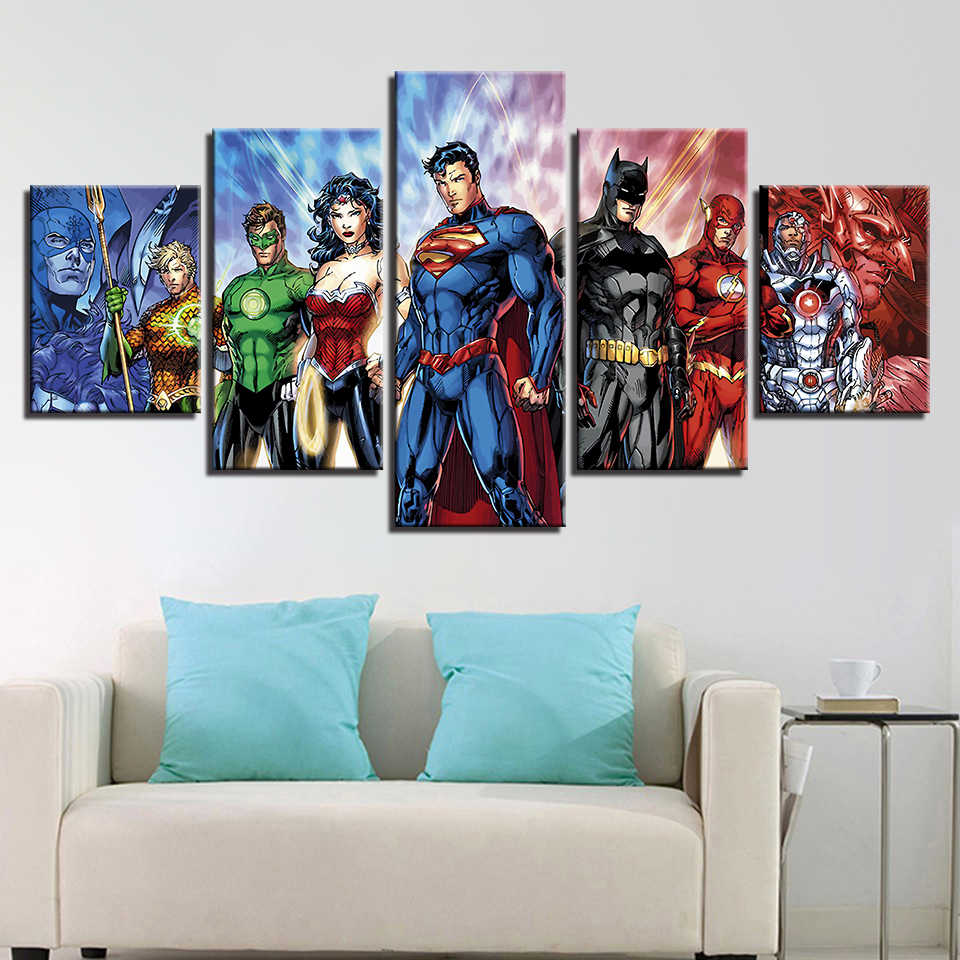Justice League Movie Modern Home Decor Picture Wall Art Canvas Painting HD Printed Poster Paintings on Canvas Wall Art Artwork