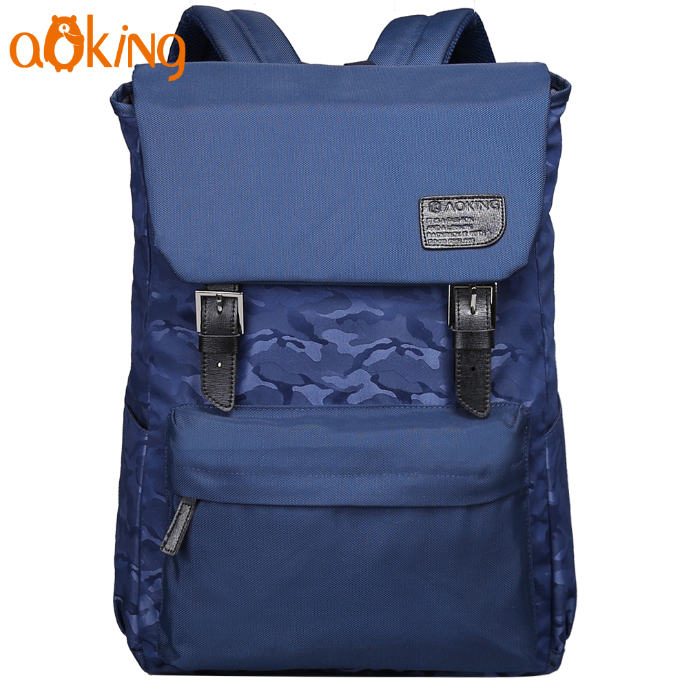 Aoking Korean Style Anti-theft Backpack for College Student Large Capacity Laptop Backpack Travel Daily Leisure School Backpack