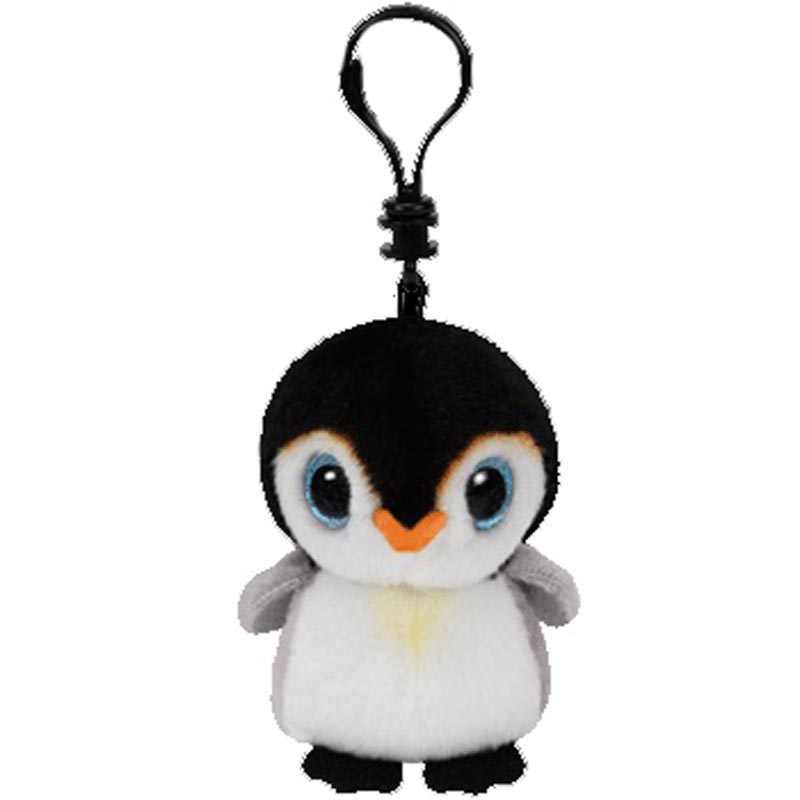"""Ty Pongo Пингвин маленький брелок-плюшевая игрушка зажим Мягкая кукла 4 """"10 см"""