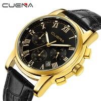 CUENA Top Brand Luxury Fashion Mens Watches Chronograph Male Sports Watch Quartz Wristwatches Relogio Masculino 6809P