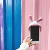 Dulcii Cute Rabbit Ear Hat Case Fundas For Iphone 6 6s 6s Plus 7 7plus 8