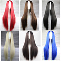 women hair wigs cheaps straight wig with middle part synthetic wigs heat resistant black brown blonde red blue long wig cosplay