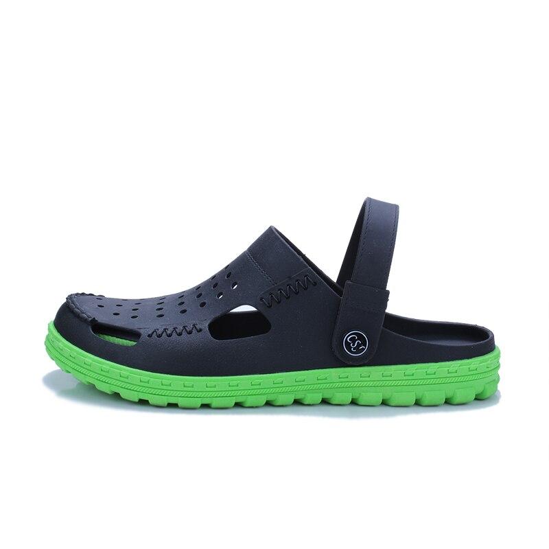 Летние Для мужчин S Сабо пляжные сандалии для Для мужчин Дачная обувь сабо Сабо Мода Карамельный цвет взрослых Для мужчин S Повседневное ...