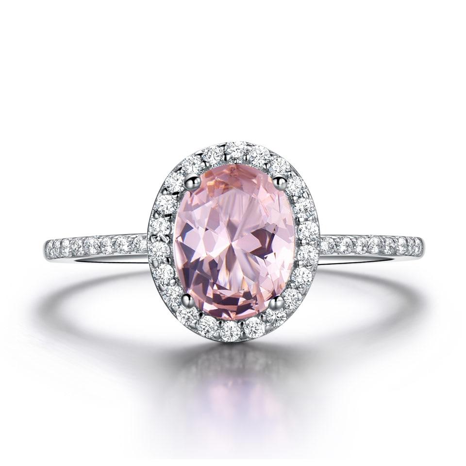 UMCHO Luksuzni Ovalni ružičasti Sapphire prstenovi pravi 925 - Fine nakit - Foto 2