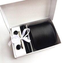 Мужской модный комплект галстуков, шелковые галстуки в горошек, галстуки для мужчин, галстук, платок, запонки, подарочная упаковка, Мужская одежда, аксессуары