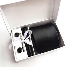 2020 Mens Fashion Stropdas Set Zijde Stropdassen Dot Stropdassen Voor Mannen Stropdas Zakdoek Manchetknopen Geschenken Box Verpakking Herenkleding accessoires