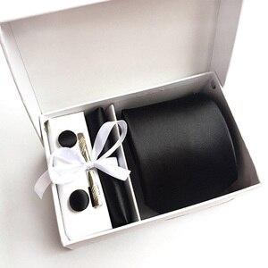 Image 1 - 2020 mens fashion tie set jedwabne krawaty dot krawaty dla mężczyzn tie chusteczka spinki do mankietów pudełko na prezenty pakowanie odzież męska akcesoria