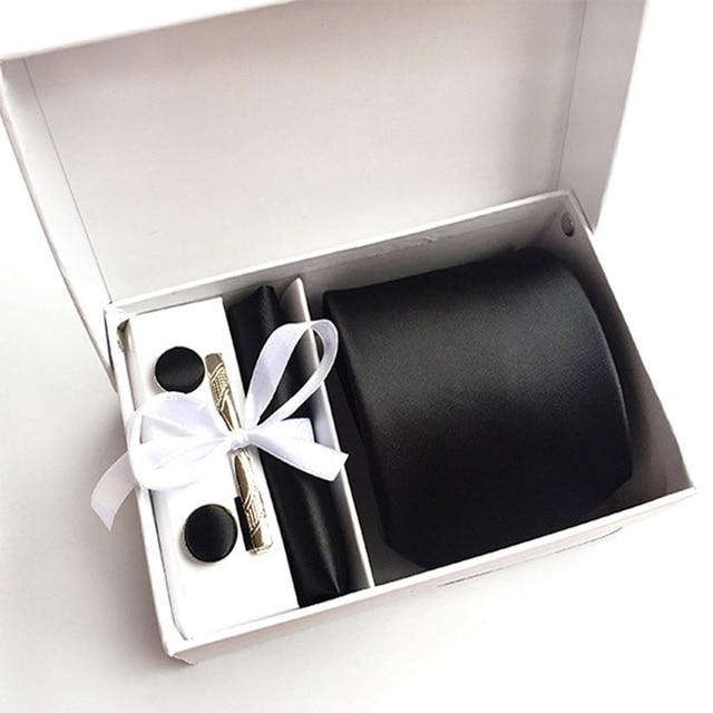 2020 mens fashion tie set silk neckties dot ties for men tie handkerchief cufflinks gifts box packing mens clothing accessories