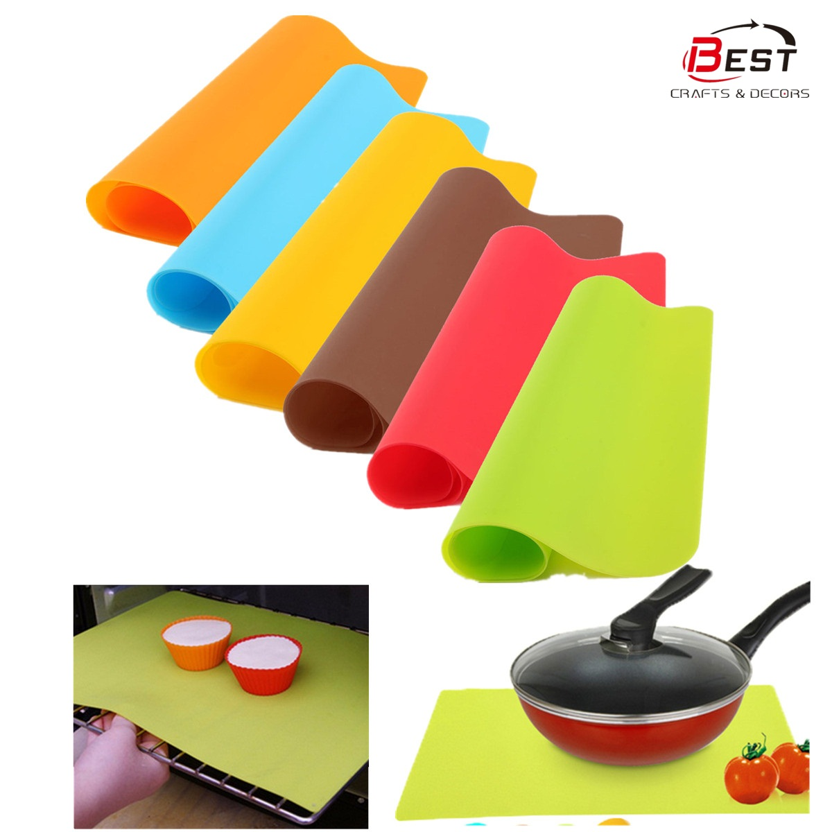 High Quality Silicone Insulation Pads Resist High Temperature Oven Baking Mat Baking Pastry Tools Rolled 40x30cm ...