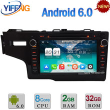 DAB Octa Core WiFi Android 6.0 32 GB ROM 4G 2 GB RAM Coche Reproductor de DVD Multimedia Stereo Radio Para Honda FIT LHD 2014 2015 2016