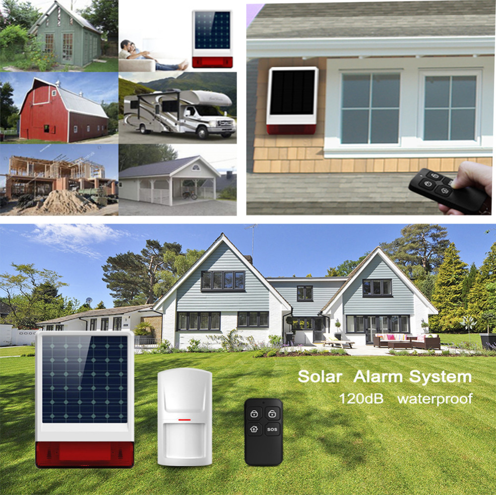 Wolf-Guard Wireless Home Alarm Security Burglar System 3G Wifi Shield Host Solar Siren Door/PIR Motion Sensor Detector RFID
