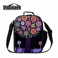 Dispalang kids lunch thermal cooler insulated box unique flower prints lunch food box carry bag reusable food bag for women work