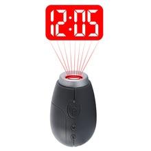 Цифровые часы с проекцией времени, светодиодный мини-часы с проекцией времени, портативные цифровые часы, Ночной светильник, волшебные часы с проектором