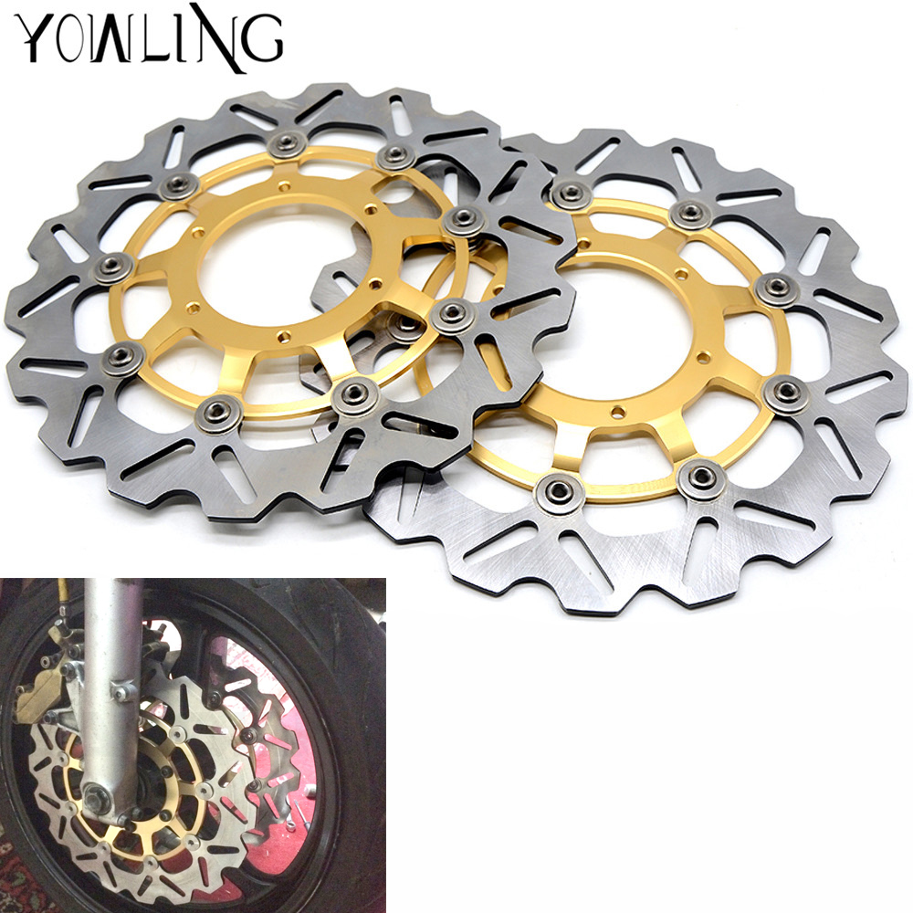 2PCS Motorcycle Accessories Aluminum Front Floating Brake Disc Rotor FOR Honda CBR1000RR CBR 1000 RR CBR1000 RR 2004-2005 2 pcs motorcycle front floating brake disc rotor for honda cbr1000rr cbr1000 2006 2007 2008 2009 2010 2011 12 cbr 1000 rr 1000rr