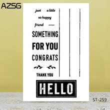 Hello/stationery Transparent Silicone Stamp for DIY Scrapbooking/Photo Album Decorative Card Making Clear Stamps Supplies