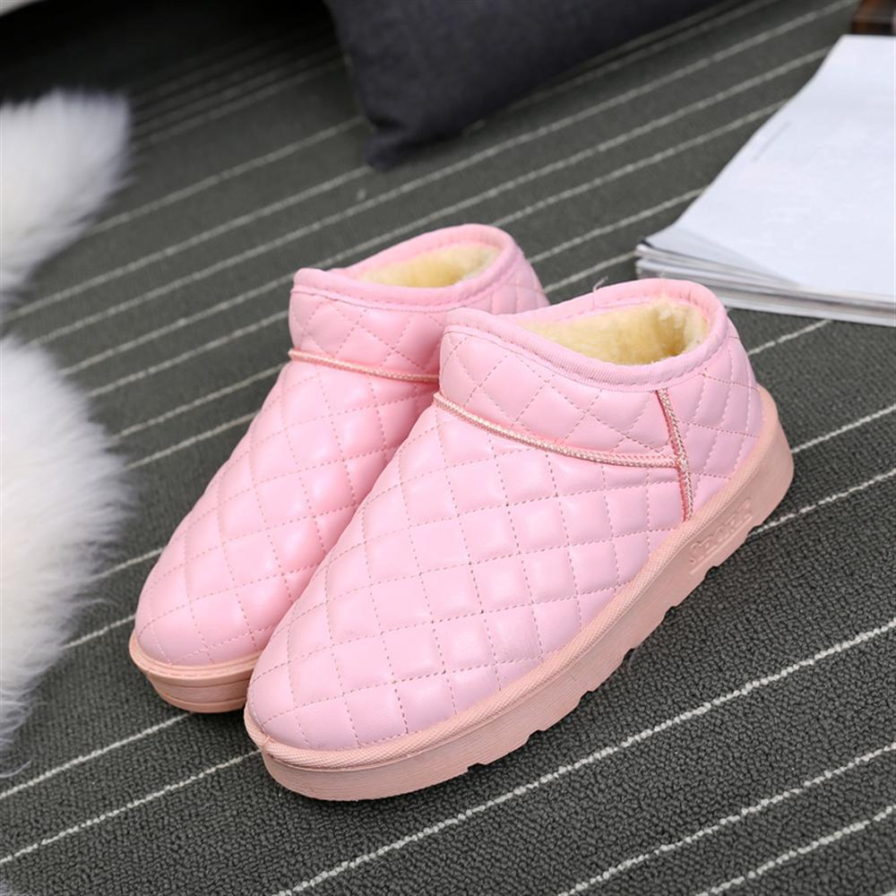 Chaud Neige Black Haute Boot Chaussures Peluche Femmes Casual Bottes Qualité En Nouveaux gray pink Imperméables Intérieur Cheville Hiver Dames De Velours 2018 qHxz8wBZn