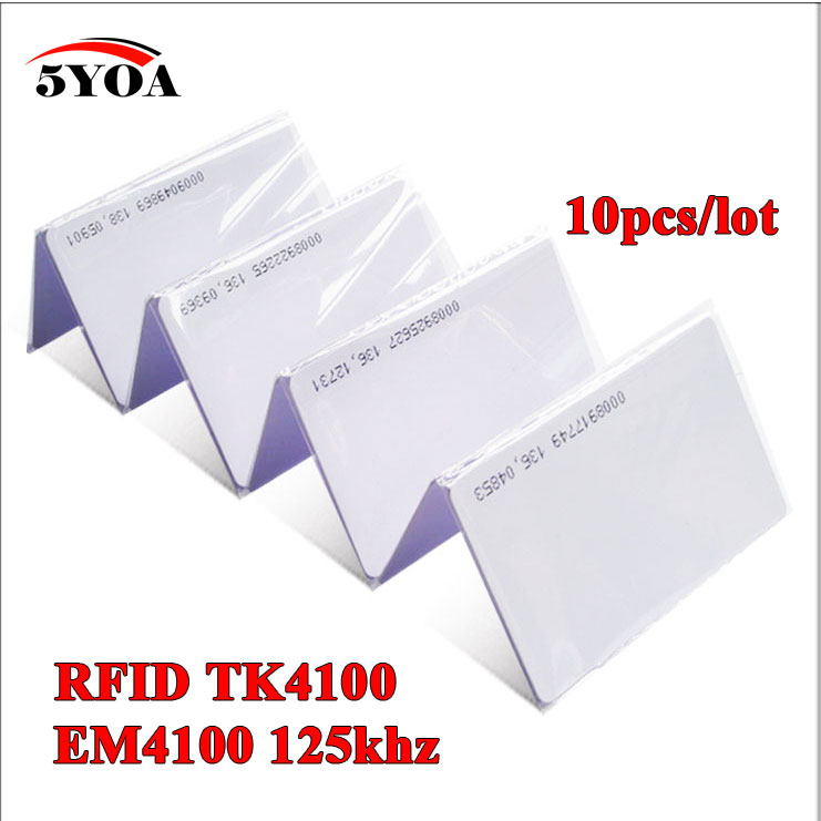 10pcs 5YOA EM4100 TK4100 125khz ID Keyfob RFID Tag Tags Access Control Card Sticker Key Fob Token Ring Proximity Chip