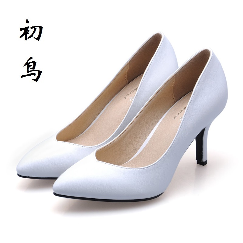 2017 Size 33-41 Fashion White Sexy Pointed Toe High Heels Talon Women Pumps Ladies Office Shoes Woman Chaussure Femme 34 40