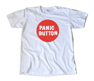 Vintage Panic Button Decal T-Shirt - Ed Roth - Cult