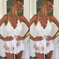 2016 Summer Fashion Women Sexy Clubwear Deep V-Neck Backless Playsuit Clubwear Jumpsuit&Romper Bodycon Floral Romper Trousers