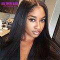 Mejor Calidad 7A Recta Sedosa U Parte Peluca Virginal Humano Peruano Estilo Recto del pelo U Parte Pelucas Para Las Mujeres Negras Con 130 densidad