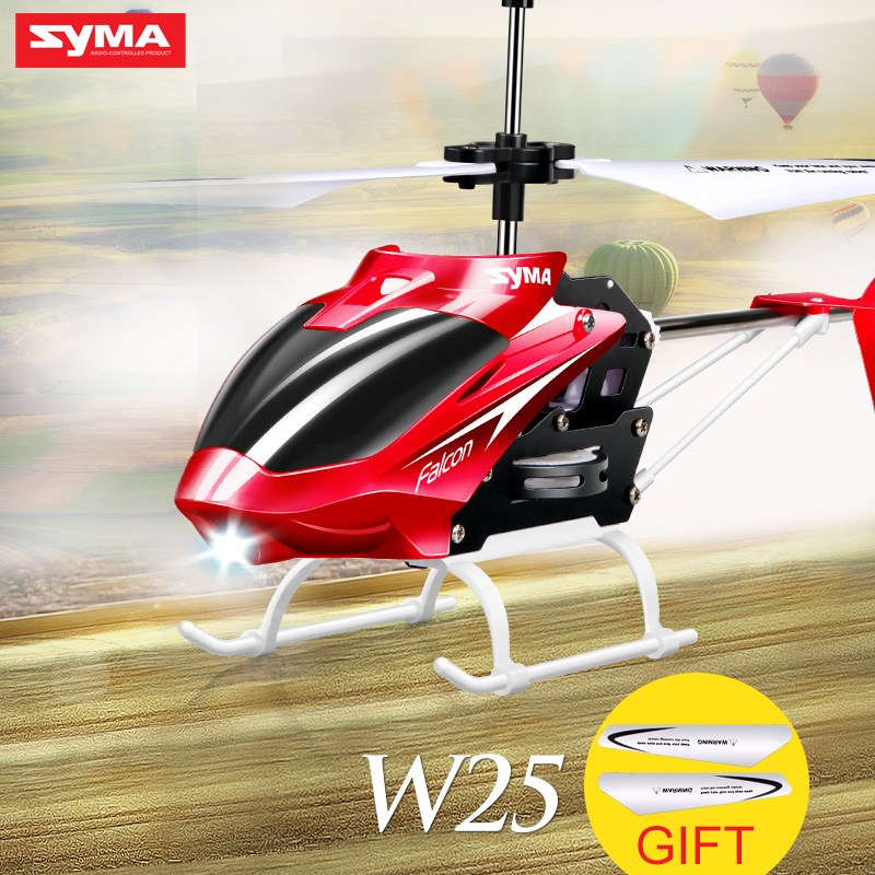 Original Syma W25 RC Helicopter 2 Channel Drone Indoor Remote Control Aircraft with Gyro Radio Control