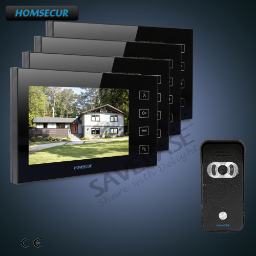 HOMSECUR 7 Wired Video Door Phone Intercom System+700TVLine Camera with 110 degree Wide View Angle+Russian Delivery