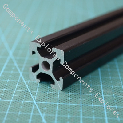 285mm 2020 Black Al Profiles For HyperCube 3D Printer,2pcs/lot.