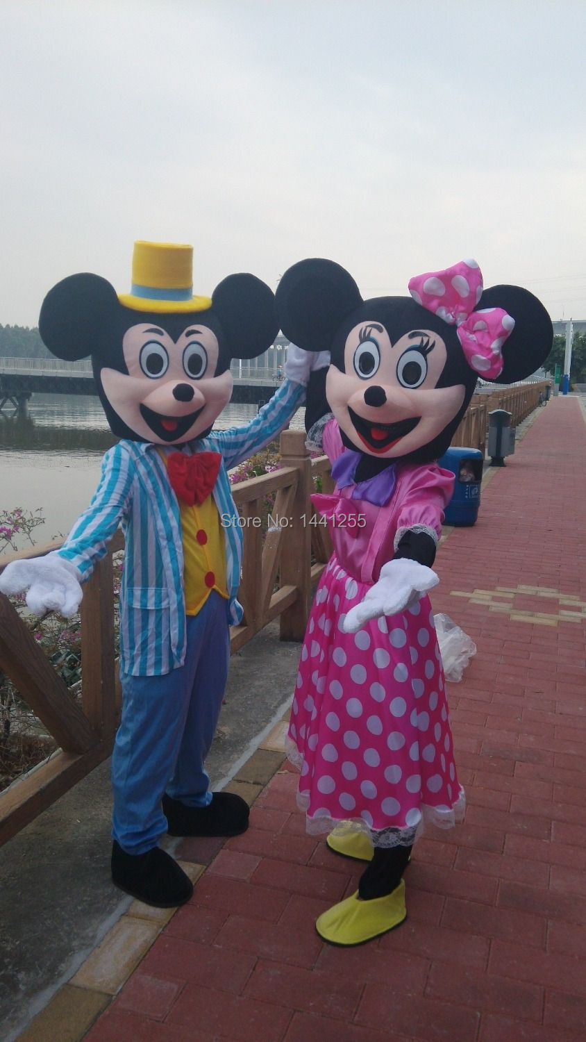 Pink Minnie Mouse Mascot costume and blue Mascot costume Adult size Mascot costume Fast shipping-in Anime Costumes from Novelty u0026 Special Use on ... & Pink Minnie Mouse Mascot costume and blue Mascot costume Adult size ...