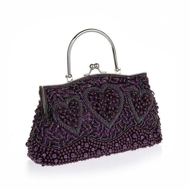 Beaded Party  2016 New Fashion Wedding Bags Handbags Diamante Luxury Crystal Clutch Woman Evening Bag SMYCWL-B0030