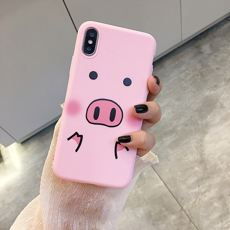 Funny Cartoon Pig Phone Case For iphone X XS Max XR Case For iphone 7 6s 8 8 plus Cover Cute Nose Soft Back Cases Animal Capa vacuum cleaner for sofa