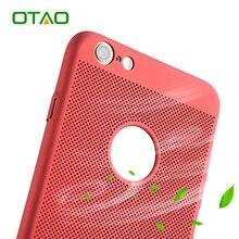 OTAO Телефон Чехол для iPhone 7 6 6 S Плюс Крышка Телефона летом Тепловыделения Дышащий Ультра Тонкий Роскошные Назад Shell Капа Coque