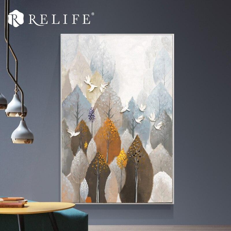 En gros peint à la main acrylique peinture à l'huile conte de fées forêt couloir décor à la maison mur Art