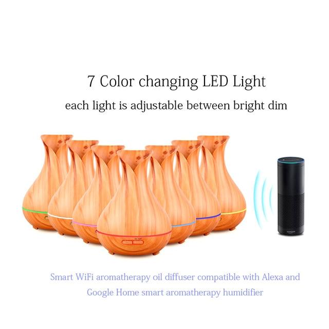 Smart WiFi aceite de aromaterapia difusor compatible con Alexa y Google inteligente aromaterapia humidificador