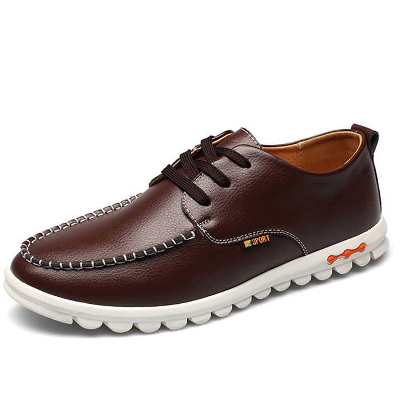 Мужская обувь модная мужская повседневная обувь Мокасины обувь черные Мужская обувь дышащая повседневные итальянские Мокасины удобная обувь для вождения