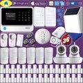 Goldene Sicherheit G90B Plus + WIFI 3G GSM Alarm System Home Alarm Sicherheit, WiFi IP Kamera, solar Power Strobe Sirene, Schock Sensoren