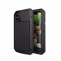 OCUBE High Quality Metal Armor Outdoor Shockproof Case For IPhone X Heavy Duty Protection Phone Case
