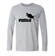 2016 New funny tee cute t shirts Pumba print men cotton cool tshirt lovely autumn casual costume t-shirt long sleeve tops tee