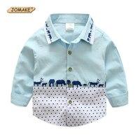 JOMAKE Junge Shirts 2018 Neue Herbst Marke Jungen Kleidung Tiere Dot Gedruckt Baby Shirts Kostüm Für Kinder Hübsche Kinder Kleidung