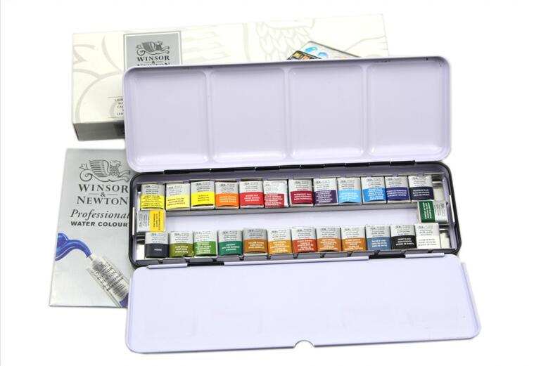 winsor newton 26 colors solid color professional water color paints