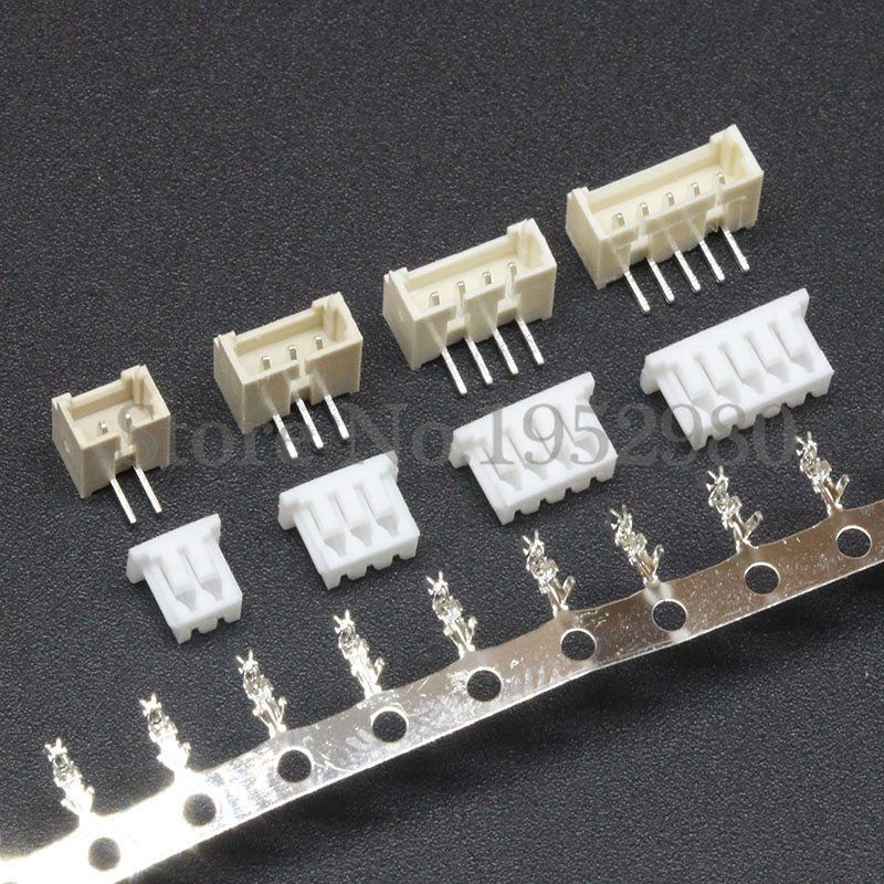 цена на 10 Set 1.25mm Pitch Connector Micro JST Vertical Right Angle Pin 2/3/4/5/6/7/8/9/10/11/12P ( Pin Header + Housing + Terminal )
