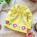 new 2013 autumn winter girls sweater baby clothing applique children's sweater baby girl  flowers sweaters knitting shirt