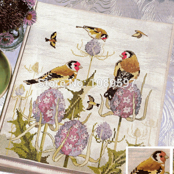 Fishxx Cross Stitch Col173-2 Animal [bird's Dialogue] Bird,water-soluble Printing,100% Accurate Pattern,11CT,Need To Embroidery