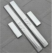 2009 2010 2011 2012 2013 for Toyota Yaris  Stainless Steel Car-styling Door Sill Scuff Plate Welcome Pedal Threshold Pedals high quality built pedal cover threshold stainless steel door sill scuff plate for audi q5 2009 2014 car accessories car styling
