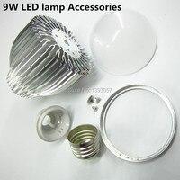 5 Set 9W Aluminum Shell Kit LED Parts LED Bulb Lamp Accessories E27 E14 B22 Gu10